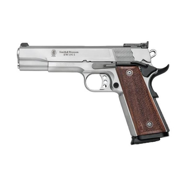 Smith & Wesson 1911 Pro Single 9mm 5″ 10+1 Wood Grip Stainless Firearms