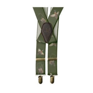 Seeland Braces Suspenders with Pheasant Motif and Clasp Closure Clothing