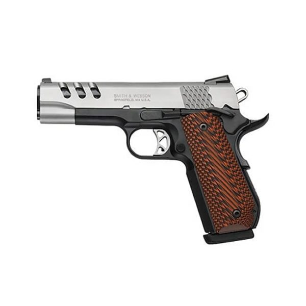 Smith & Wesson 1911 Performance Center DAO 45ACP 4.25″ 8+1 Custom Wood G10 Grip Blk Firearms