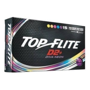 Top Flite Women's D2+ Diva Neon Golf Balls - 15 Pack