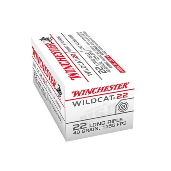 Winchester Ammo Wildcat .22 LR 40 GR Lead Round Nose, Box .22 LR