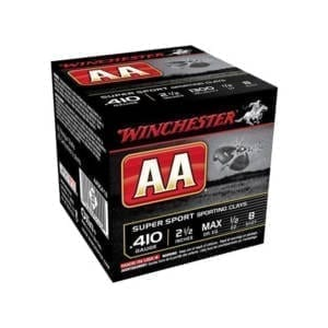 Winchester AA .410 Gauge Size #8 Target Shooting Shotgun Rounds .410 Bore