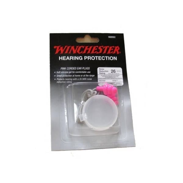 Winchester Pink Corded Earplug Eye & Ear Protection