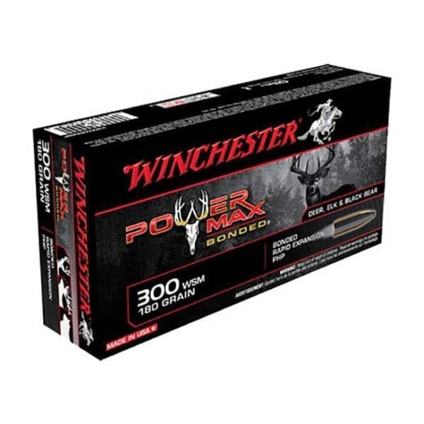 Winchester Power Max Bonded .300 WSM 180 Grain Rounds .300 Winchester Magnum