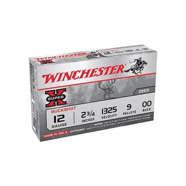 Winchester Super-X 12 Gauge Buckshot, Box 12 Gauge