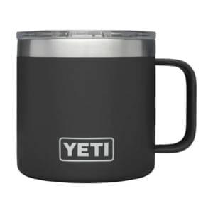 Yeti Rambler 14 oz Mug Black Camping Essentials