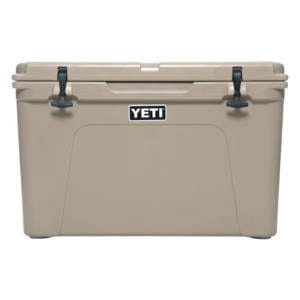 Yeti Tundra 105 Cooler Tan Camping Essentials