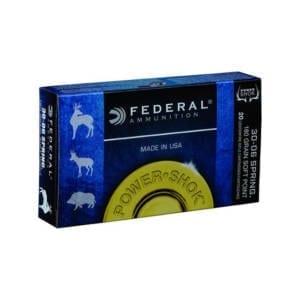 Federal Power-Shok .30-06 Springfield 180 Grain Soft Point Box .30-06 Springfield