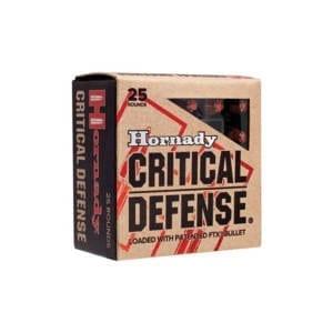 Hornady Critical Defense 9MM Makarov 95GR FTX 25Rds 9mm x 18mm Makarov