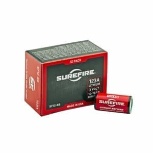 Surefire 123A High Performance CR123A 3V Lithium Stick, 12 Camping Gear