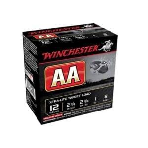 Winchester AA Target Loads 12 Gauge 2.75″ 1 oz 8 Shot Box 12 Gauge