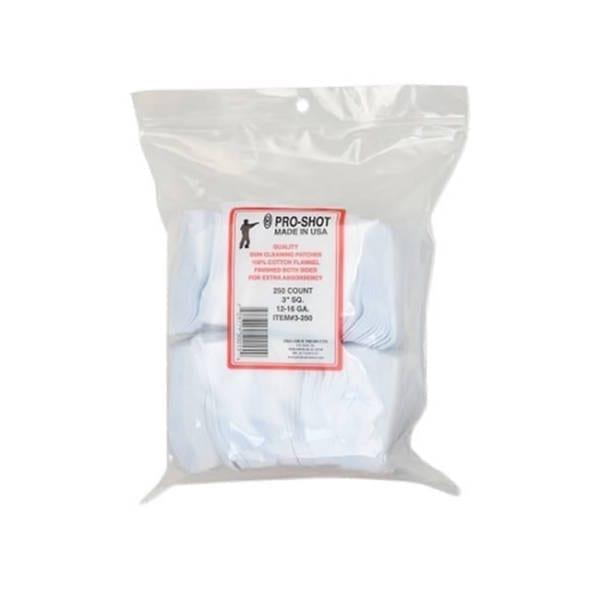 Pro-Shot Cotton Flannel Pouches 3″ Sq 12-16 Ga Gun Cleaning & Supplies