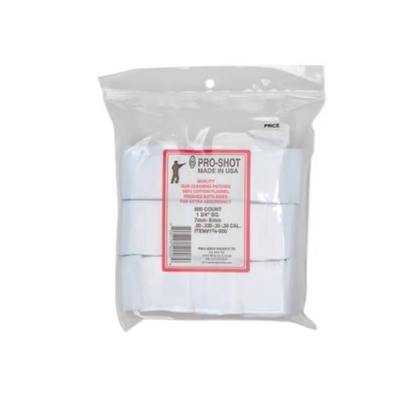 Pro-Shot Cotton Flannel Pouches 6mm Benchrest Cleaning Patches Gun Cleaning & Supplies