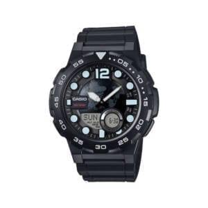 Casio Mens Black Ana-Digi Dive Style Watch Accessories
