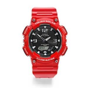 Casio Men's Solar Powered Analog Digital Watch – Red Accessories