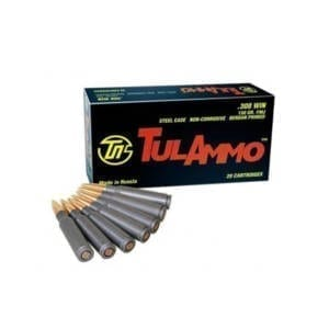 Tulammo Ammunition, .308 Winchester, Full Metal Jacket, 150 GR .308 Winchester