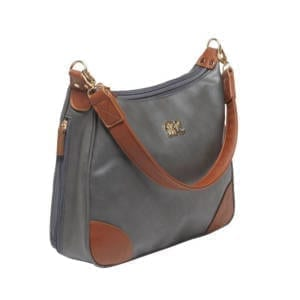 Bulldog Hobo Purse Holster Gray w/Tan Trim Leather