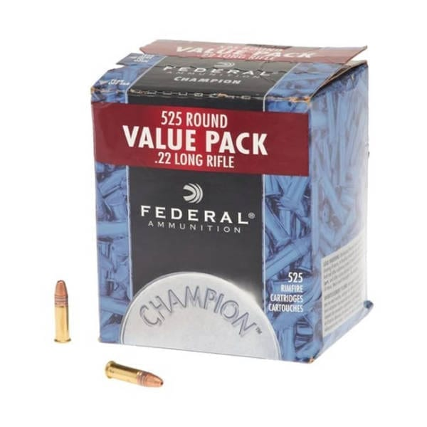 Federal Ammunition .22LR Copper Plated Hollow Point Rounds .22 LR