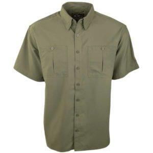 Drake Men's DPF Flyweight Short Sleeve Shirt – Navy, Olive, or Orange Clothing