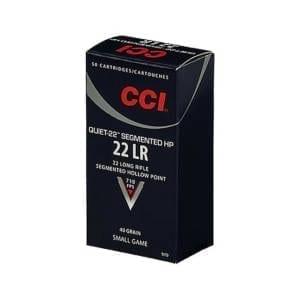 CCI Quiet-22 Ammunition .22 LR Segmented HP 40 Grain .22 LR