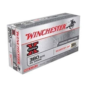Winchester .380 ACP 85 Grain Silvertip Rounds .380 ACP