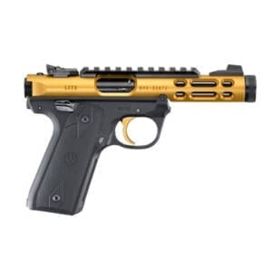 Ruger Mark IV 22/45 Lite .22LR Gold Handgun Firearms