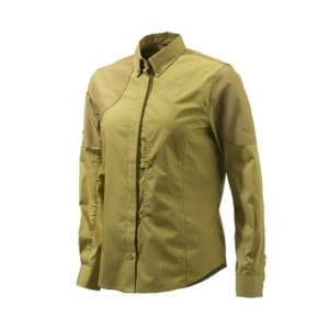 Beretta Womens Light Brown Upland Frontload Shirt Clothing