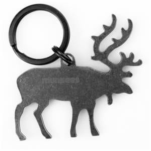 MUNKEES Key Chain Stainless Bottle Opener Elk Miscellaneous