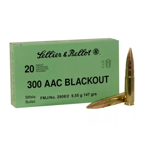 Sellier & Bellot .300 Blackout FMJ 147 Grains .300 AAC