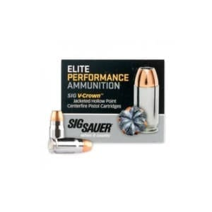 Sig Sauer .357 Sig V-Crown JHP 125GR Ammunition