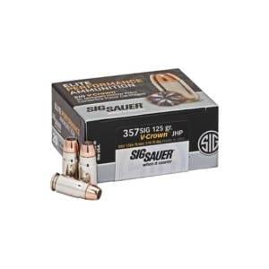 Sig Sauer Elite.357 Sig 125 GrainsV-CompJHP Ammunition