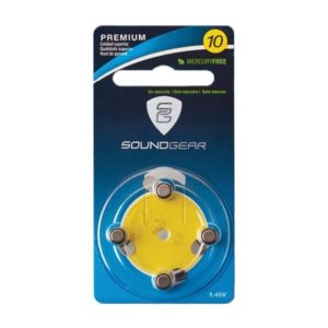 SoundGear Premium Mercury-Free Batteries, Size 10 Miscellaneous