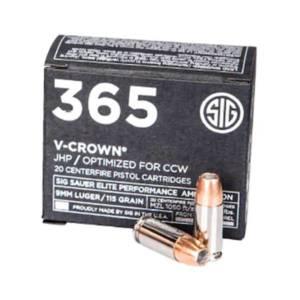 Sig Sauer 9MM 1015Gr Elite V-Crown Hollow Point Bullets 9MM