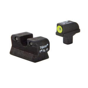 Trijicon 1911 Novak Cut HD Yellow Outline Night Sight Firearm Accessories
