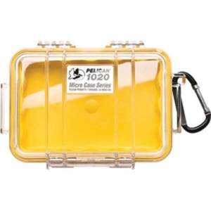 Pelican 1020 Micro Case Yellow/Clear Camping Essentials