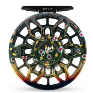 ABEL SDF 4/5 Fly Reel – Ported Native Brook With Matching Drag Knob Zebra Wood Handle Fishing