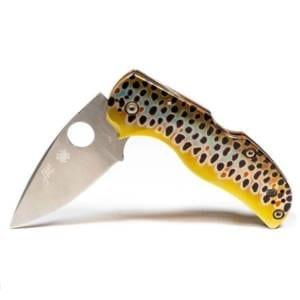 Abel + Spyderco Native 5 Brown Trout Folding Knife Folding Knives