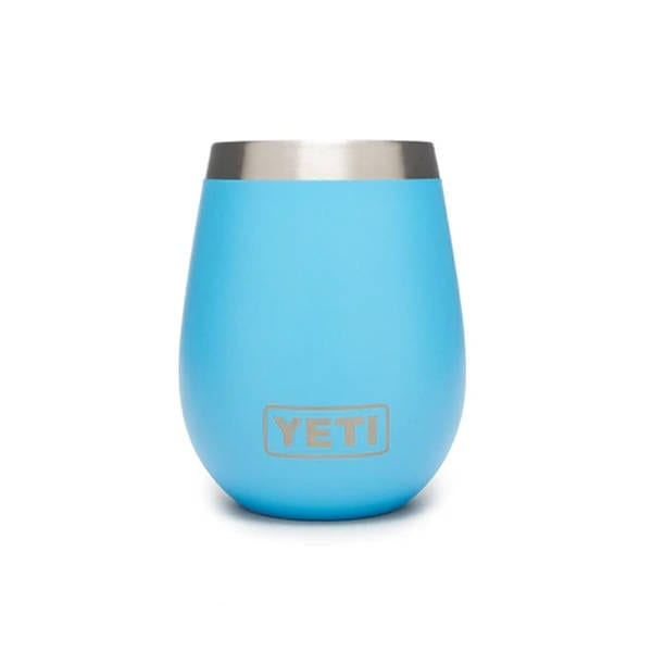 YETI WINE RAMBLER 10 OZ REEF BLUE Camping Gear