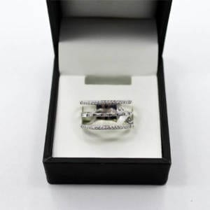 Diamond & White Gold Ring 5.59 Grams – 0.33 Carat Jewelry
