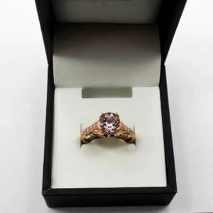 Diamond & Rose Gold Ring 18K, 3.74 Grams – 0.13 Carats Jewelry