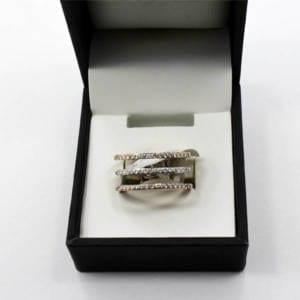 14K Rose, White & Yellow Gold Diamond Ring 0.33 carat – 6.31 grams Jewelry
