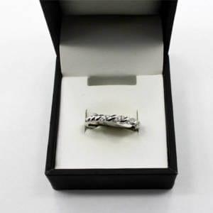 White Gold, Diamond Ring 2.40 Grams – 0.10 Carat Diamond Jewelry