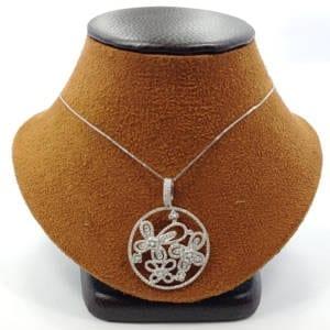 Diamond Pendant with a Chain 1.10 Carat Jewelry