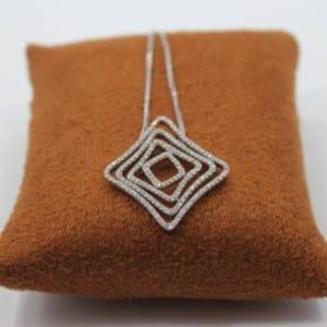 Diamond Pendant with a Chain 0.97 Carat Jewelry