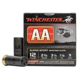 Winchester Ammo AASC129 AA Target Loads 12GA 2.75″ 1-1/8oz #9 Shot – 25sh Box 12 Gauge