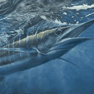 K. Scott Left-Long Canvas Framed 24″x 48″ Print Artwork