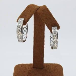 Diamond Looped Earrings 10.89 Grams – 3.00 CTS Jewelry