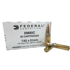 Federal FMJ  7.62x51mm 149 Grain 7.62 NATO