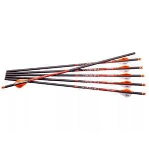 Ravin 20″ Carbon Crossbow Bolt 2″ Vanes .003 Straightness Black Pack of 6 Archery
