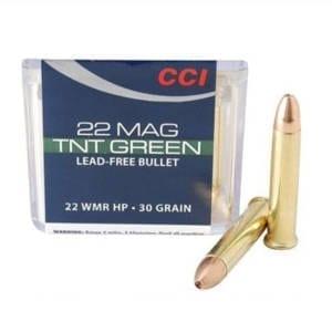 CCI TNT Green .22 WMR Ammunition 50 Rounds JHP 30 Grain .22 WMR